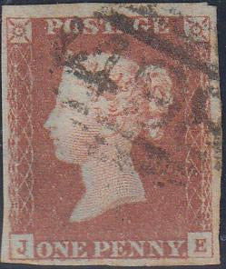 47795 - 1848 1d Pl.86 (JD)(SG 8). Good to fine used exampl...