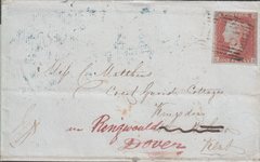 49896 - PLATE 151(CK) ON COVER. 1853 wrapper, with letter enquiring re a Postal Or...