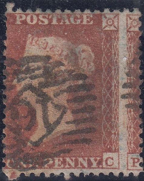50575 - 1855 DIE 1 PL. 203 (PC)S.C.14 (SG22)/MISPLACED SHEET VARIETY.  A goo...