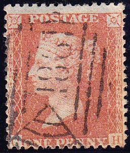 51868 - 1856 die II 1d pl.29 (CH) in a pale orange-brown s...
