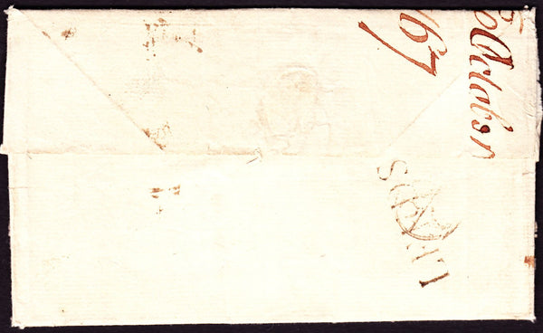 53299 - 1767 letter Leeds to Lincoln's Inn, London with go...