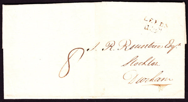 53335 - 1808 letter Leeds to Stockton, Durham with fair st...
