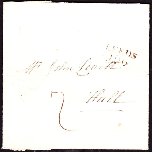 53336 - 1809 letter Southowram (nr Halifax) to Hull with f...