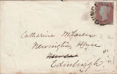 53869 - 1855 'DUNGLASS' SCOTS LOCAL TYPE XX (CO. DUMBARTON PARENT OFFICE GLASGOW) ON COVER.