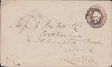 55057 - GLOS. 1884 1d pink (oxidised) stationery envelope ...