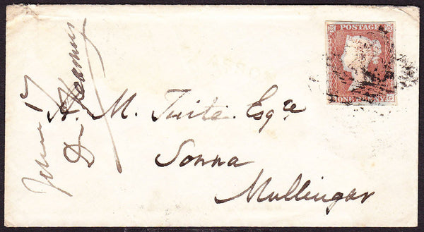 55066 - PLATE 125. 1852 envelope from Ballymahon to Mullinga...