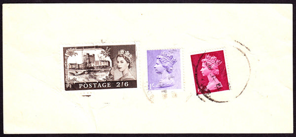 55193 - 1968 'Post Office Receipt' with 2/6d castle and 6d...