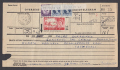 55481 - 1964 TELEGRAM 5S CASTLE. Telegram (215x120) Notting Hill to Italy with...