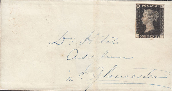 55989 - PL.6 (TI) (SG2)/ON COVER FROM CHELTENHAM ADDRESSED TO AN ASYLUM IN GLOUCESTER. 1840 large part wrapper Chelt...