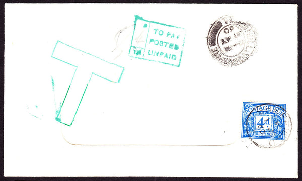 56113 - 1960 UNPAID MAIL. Window envelope from Hull, witho...