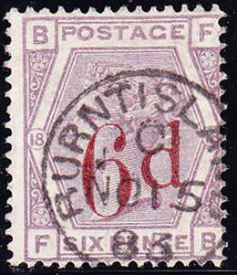56418 - 1883 6d on 6d (SG 162). Very fine used lettered FB...