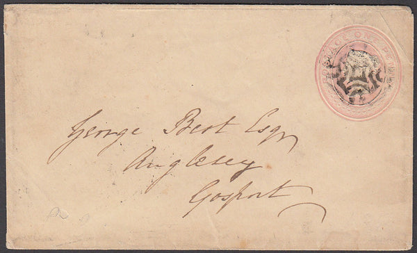57397 - THE DISTINCTIVE M.C. OF BRIGHTON. 1841 1d pink env...