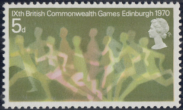 57492 - 1970 5D COMMONWEALTH GAMES GREENISH YELLOW OMITTED (SG 832a).
