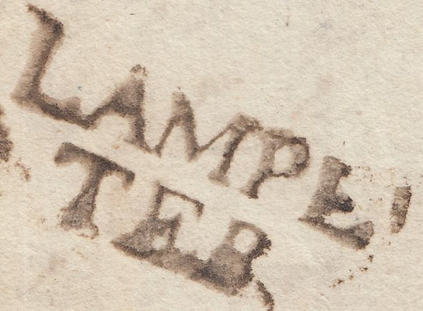 57909 - 1783 CARDIGANSHIRE/'LAMPE/TER' HAND STAMP (W1234)/QUEENS ANNE'S BOUNTY. Entire from Ystrad to Lo...