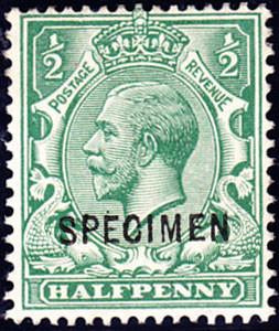 59246 - 1912 ½d green (SG 315). A fine large part o.g. exa...