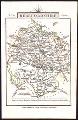 60098 - HEREFORDSHIRE - MAP. A fine copy of the 1817 map b...