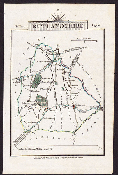60107 - RUTLANDSHIRE - MAP. A fine copy of the 1817 map by...