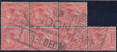 60352 - 1912 1d WATERMARK INVERTED AND REVERSED ex SHEET F...