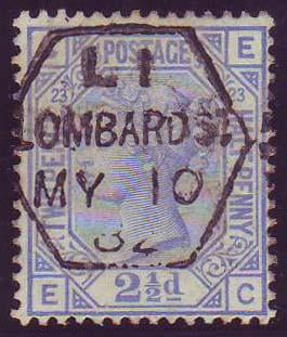 60508 - 1881 2½d blue plate 23 (SG 157). A fine to very fi...