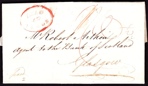 61301 - INTER-BANK MAIL. 1830 letter from Leeds bank to th...