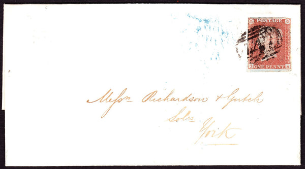 61335 - Pl.97 (JA)(SG8). 1850 wrapper Leeds to York with f...