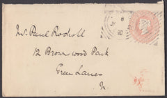 61440 - HOSTER CANCELLATION. 1890 1d pink envelope used lo...