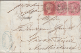 61539 - MAIL TO HOLLAND. 1860 wrapper London to Amsterdam ...