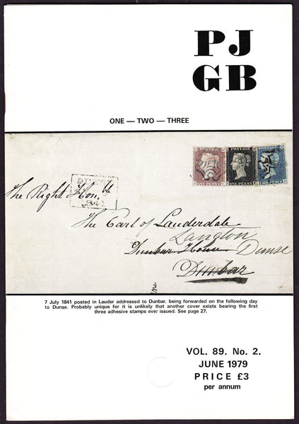 61557 - THE PHILATELIC JOURNAL OF GREAT BRITAIN. Volume 89...