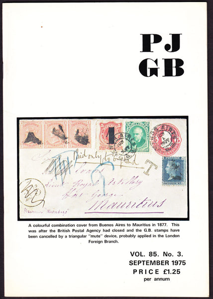 61578 - THE PHILATELIC JOURNAL OF GREAT BRITAIN. Vol. 85. ...