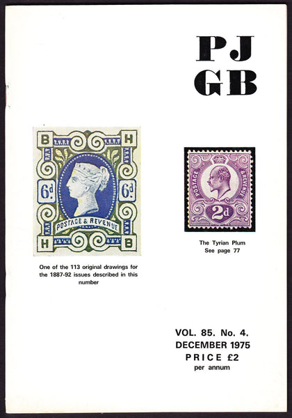 61579 - THE PHILATELIC JOURNAL OF GREAT BRITAIN. Vol. 85. ...