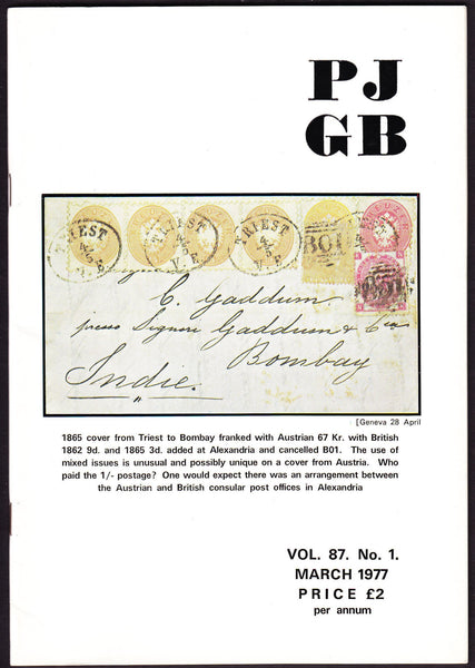 61584 - THE PHILATELIC JOURNAL OF GREAT BRITAIN. Vol. 87. ...