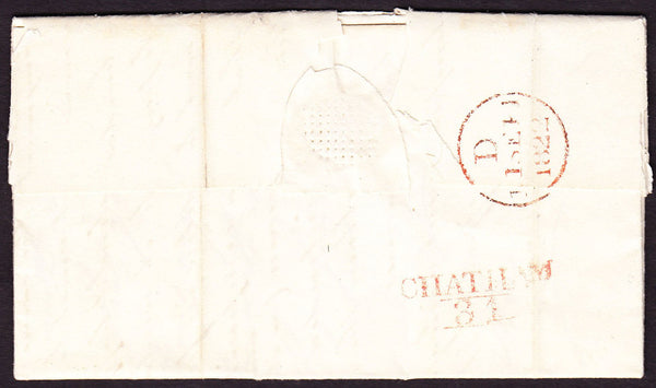 61745 - KENT. 1822 letter Chatham to London dated 10th Sep...