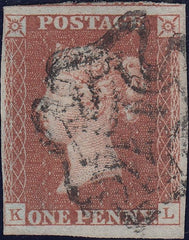 62020 - WHITEHAVEN DISTINCTIVE MALTESE CROSS/1D RED PL. 5(SG7)(SPEC BItv).