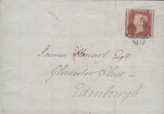 62237 - 1844 DISTINCTIVE MALTESE CROSS OF DUMFRIES ON COVER/PL.36(OH)(SG8). Wrapper