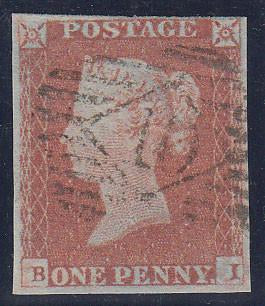 63142 - PL.81(BI)(SG8). A good to fine used 1848 1d pl.81 ...