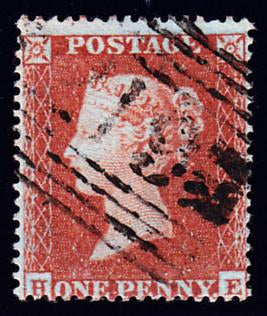 63396 - 1854 1d Die 1 pl.190 (HE)(SG 17). Good to fine use...