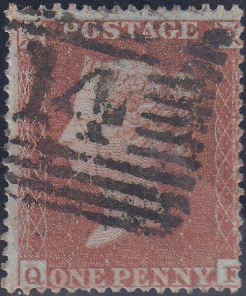 63426 - PL.183 (QF)(SG17). Good used 1854 Die 1 pl. 183 S.C.16 (SG17)