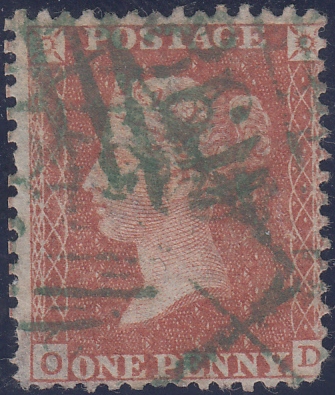 63481 GREEN '186' NUMERAL OF DUBLIN (SPEC C1uc)/1855 SPEC C6.