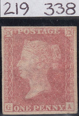 63679 - 1857 DIE 2 1D PLATE 48 WHITE PAPER ERROR IMPERFORATE (SG 38a Spe...