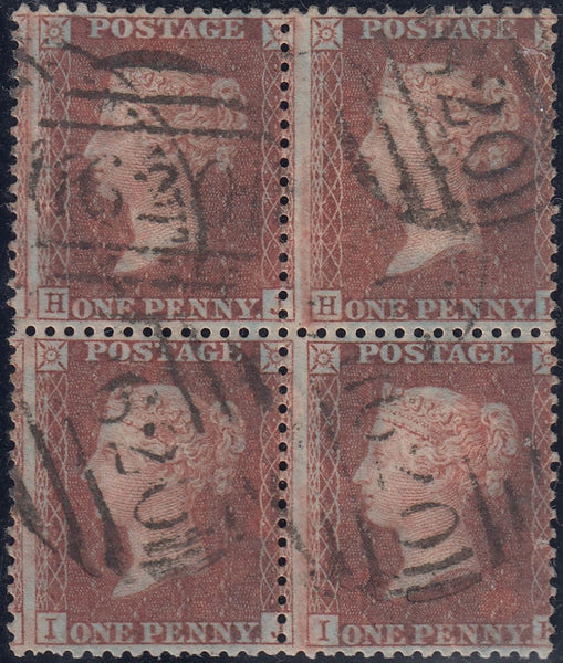 63732 - 1856 DIE II PLATE 36 (SG 29) BLOCK OF FOUR LETTERED HJ HK IK IL. A