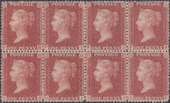 63736 - 1856 DIE II PL.37 RED-BROWN ON BLUED PAPER (SG ...
