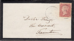 63770 - Pl.68 ROSE-PINK SHADE (SG40/SPEC C10(6)(NG) ON COVER. 1864 Mourning envelope with lette...