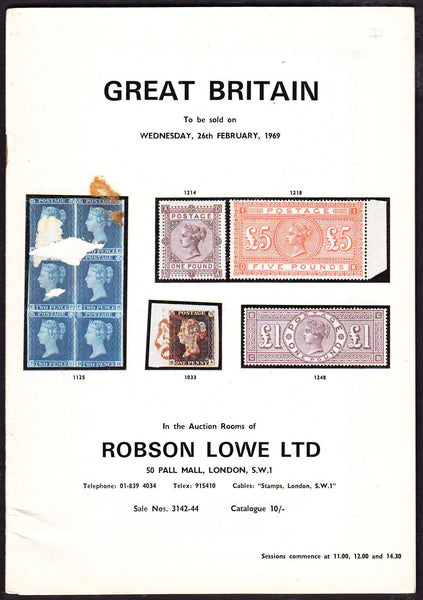 64126 - ROBSON LOWE GREAT BRITAIN SPECIALISED 1969 26th Fe...