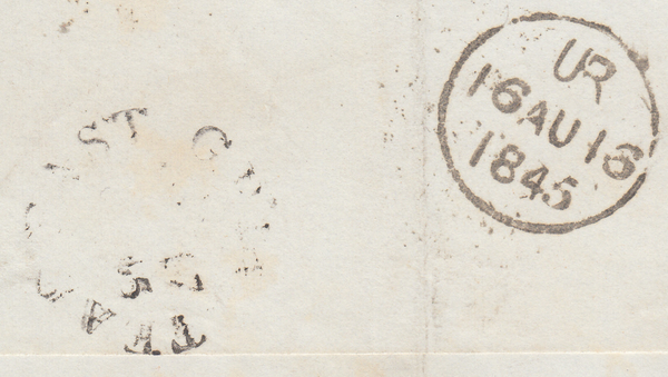 64150 - Pl.56(JI)(SG8) ON COVER. 1845 wrapper London to East Grinst...