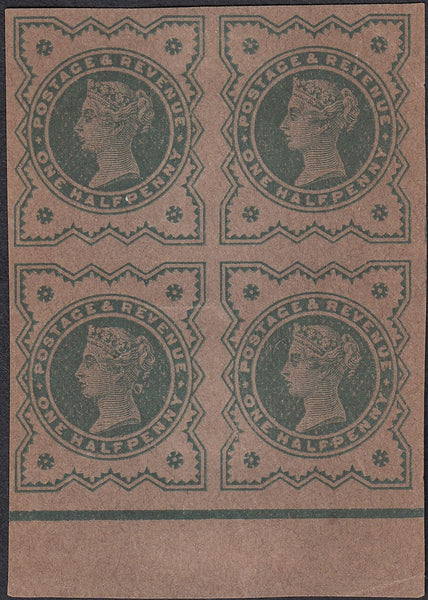 64442 - 1900 ½D PLATE PROOF BLUE-GREEN ON BUFF PAPER (SG 213). A good to...