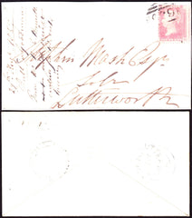 64915 - 1857 LEICS/'HUSBANDS.BOSWORTH' UDC/1D TRANSITIONAL PL.36 (SPEC C9(3). Rugby ...