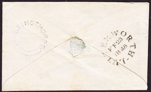 64920 - LEICESTERSHIRE/PLATE 73 (AG). 1848 envelope, used locally in Lut...