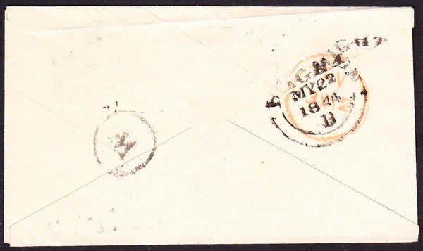 65608 - SUSSEX. 1844 1d pink envelope Brighton to London c...