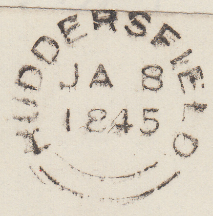 65695 - Pl.45(OB)(SG8) ON COVER. 1845 wrapper (side flaps missing) ...