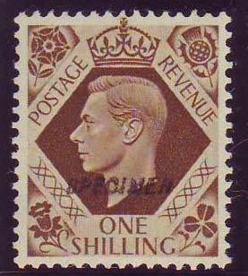 65709 - 1939 1/- bistre brown (SG 475). Fine unmounted o.g...